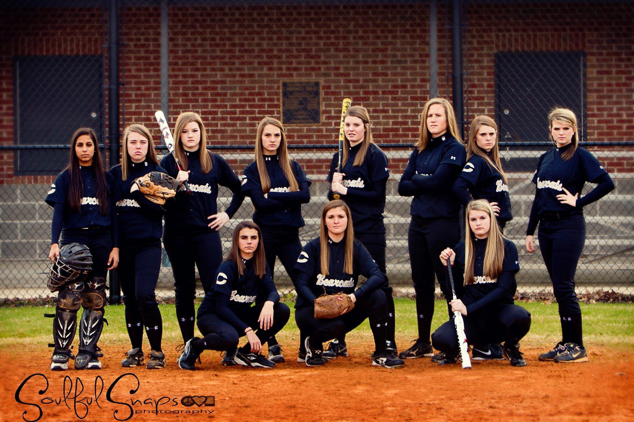 Cullman high school softball team photo by leslie dyer for Team picture ideas