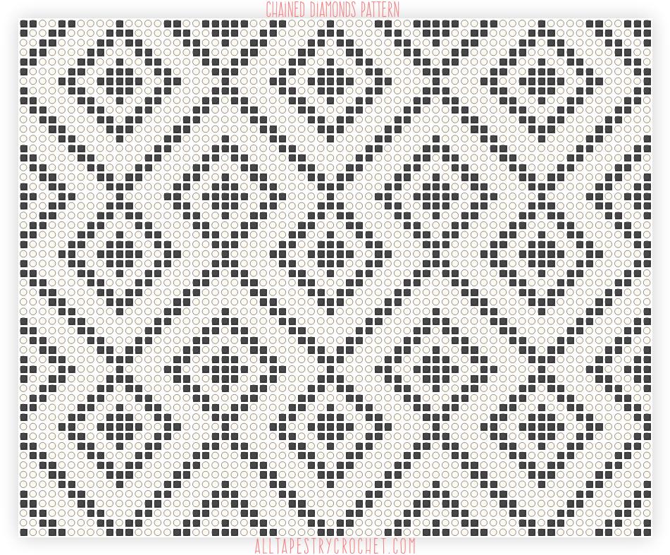 Chained Diamonds Pattern Free Tapestry Crochet Pattern From Mesmerizing Tapestry Crochet Patterns Free