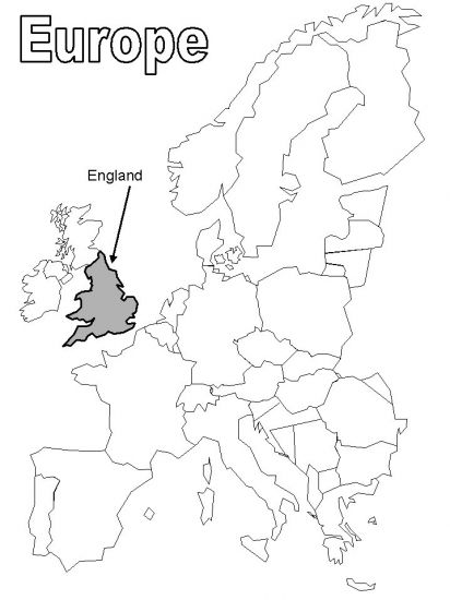England Europe Coloring Page England Map English Lessons For Kids