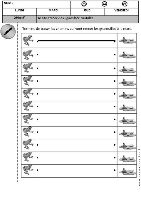 Préférence Graphisme : je sais tracer des lignes horizontales | Matern.2 PS  KK29