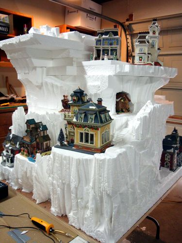 Vertical Christmas Snow Village Layout Display - Hot Wire Foam Factory