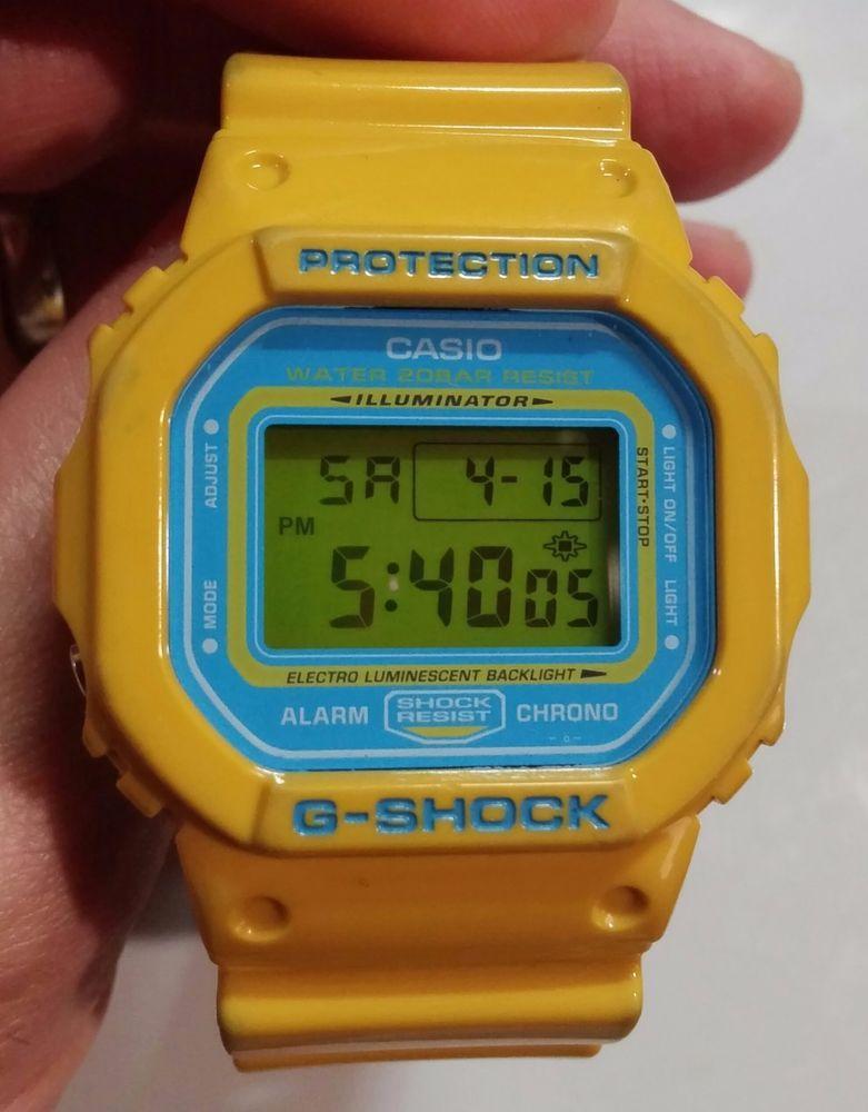 86b7f9719d7 Casio DW5600CS-9 Wrist Watch for Men RARE Color! Mustard Yellow & Blue Face  #GSHOCK #Sport