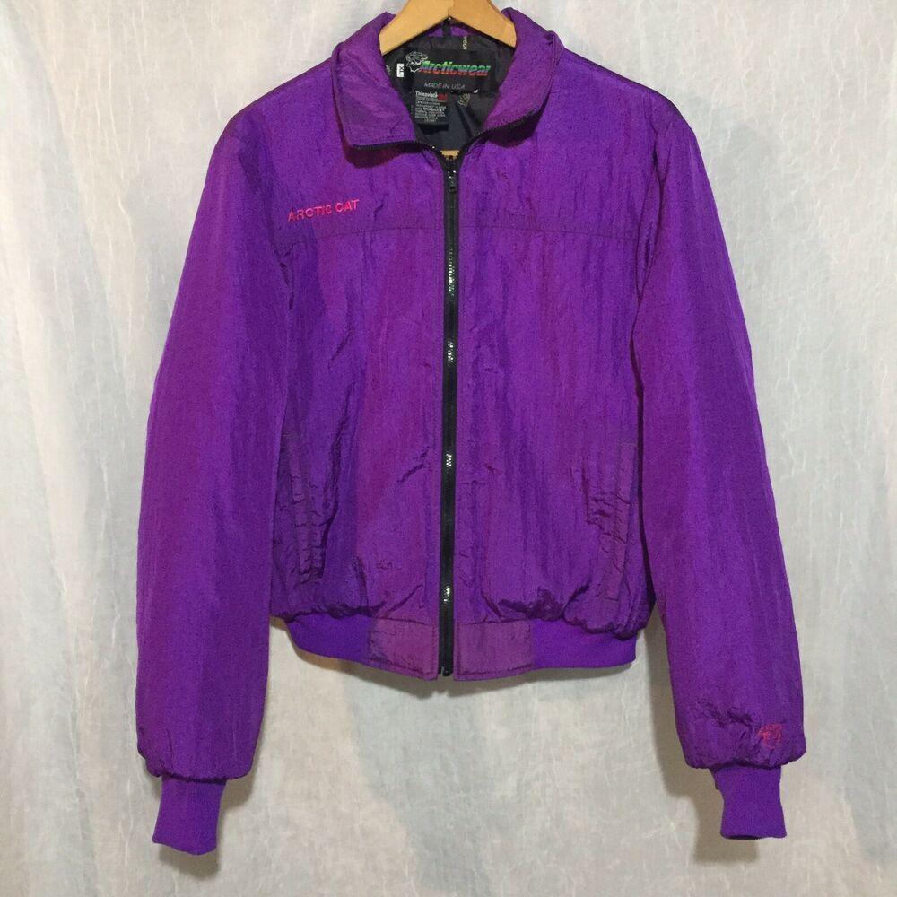 Vintage Arctic Cat Arcticwear Thinsulate Purple Size XL