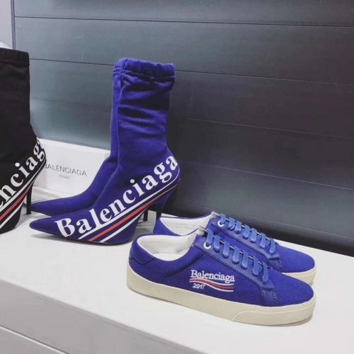 ba848d9cfeec Authentic Balenciaga Low Skate Sneakers Rubber Sole Saint Laurent Slp Blue