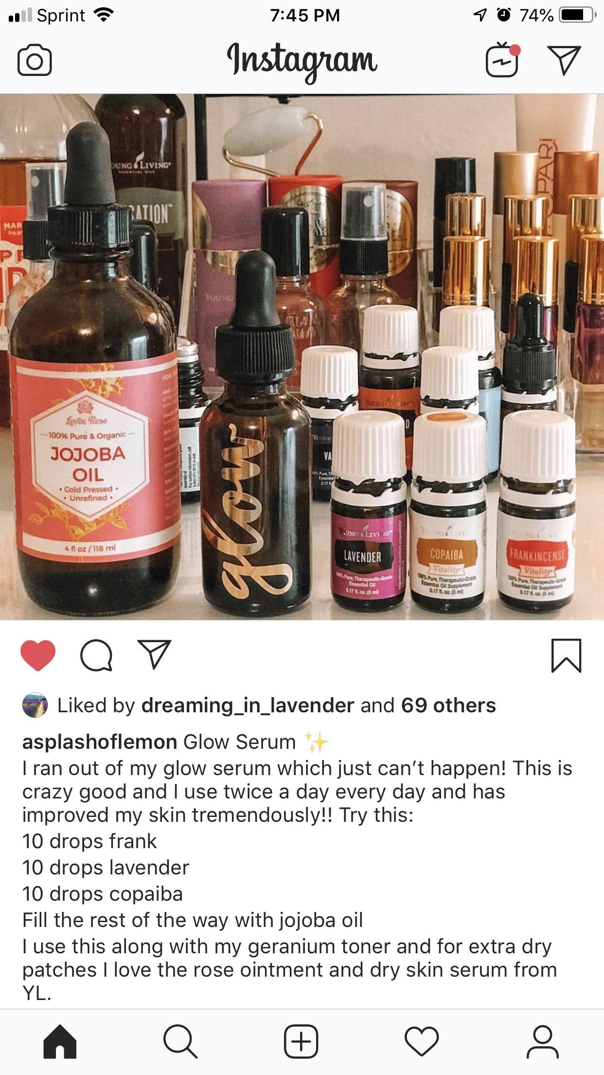 Glow serum   Essential oils for face, Essential oils for skin ...
