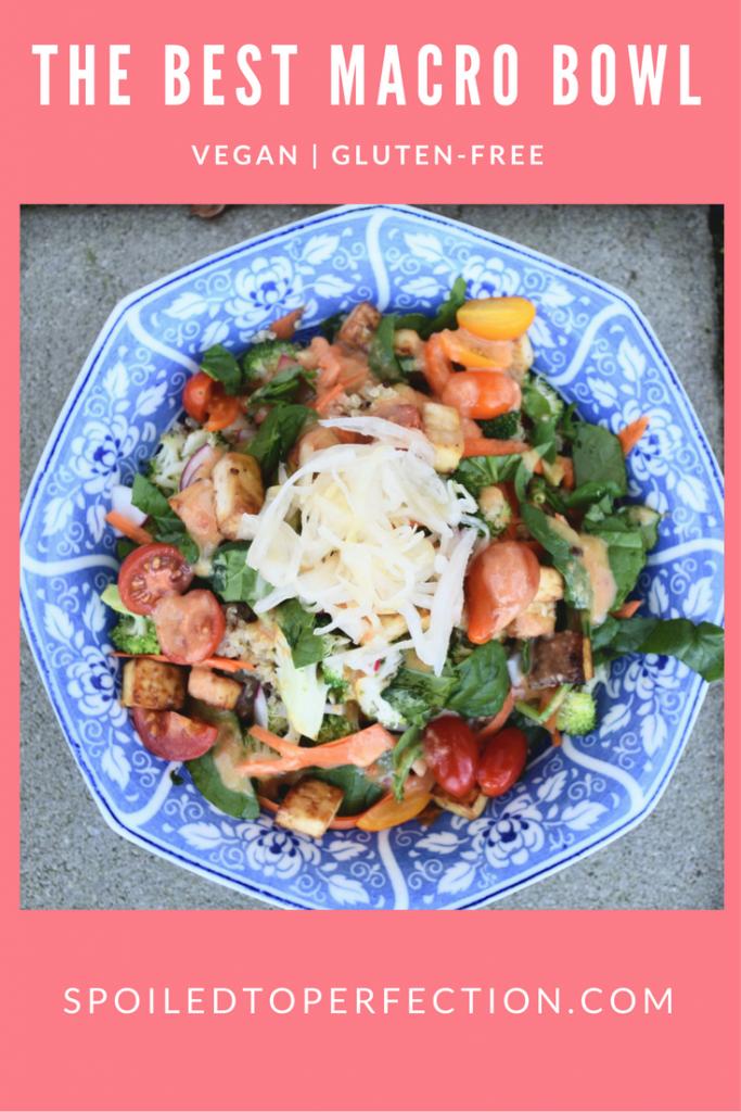 Vegan Gluten-Free Ginger Miso Macro Bowl! #fermentedfood #miso #ginger #macrobowl #spoiledtoperfection
