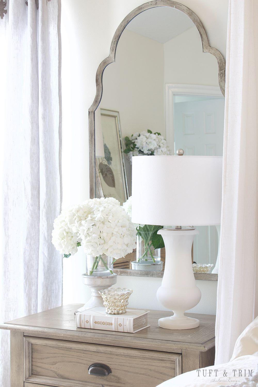 Master bedroom nightstand decor  Master Bedroom Update French Elegance  Table Lamps  Pinterest