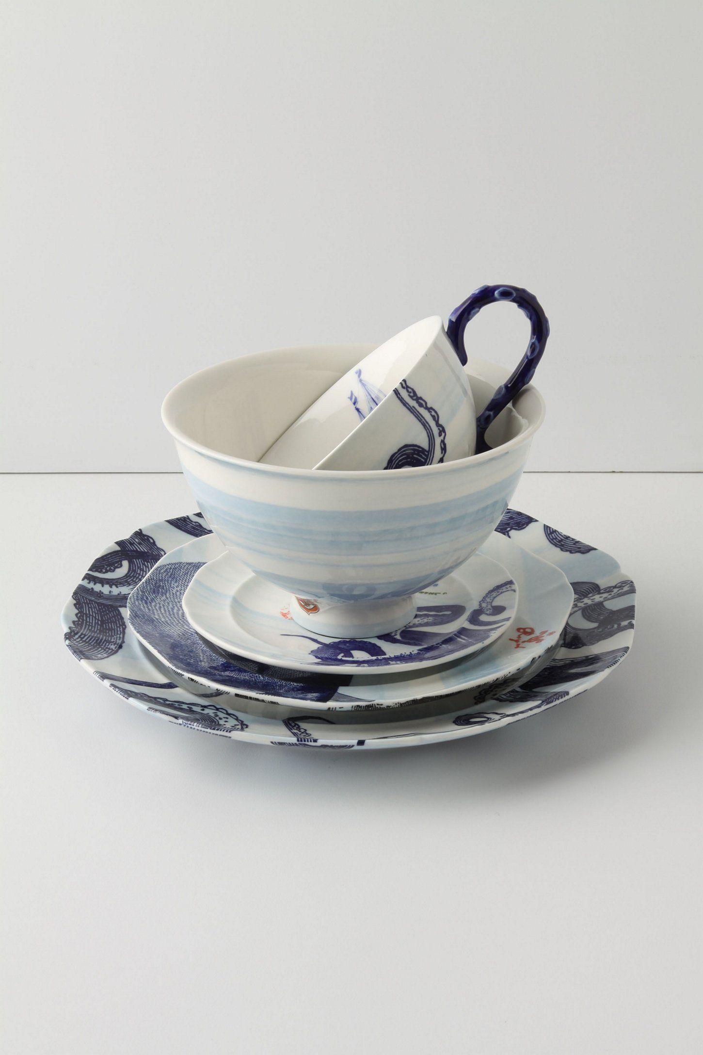 Delft · nautical themed dinnerware- ... & From The Deep Dinner Plate | Dinnerware Teas and Teacup