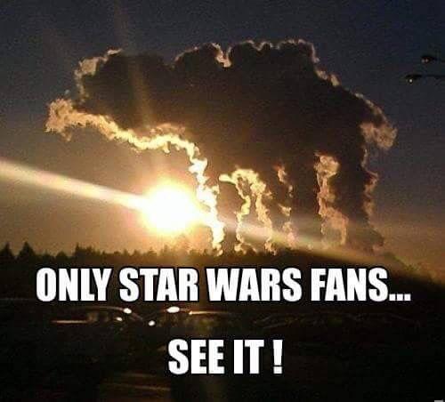 Only Star Wars Fans See It Star Wars Jokes Star Wars Humor Funny Star Wars Memes