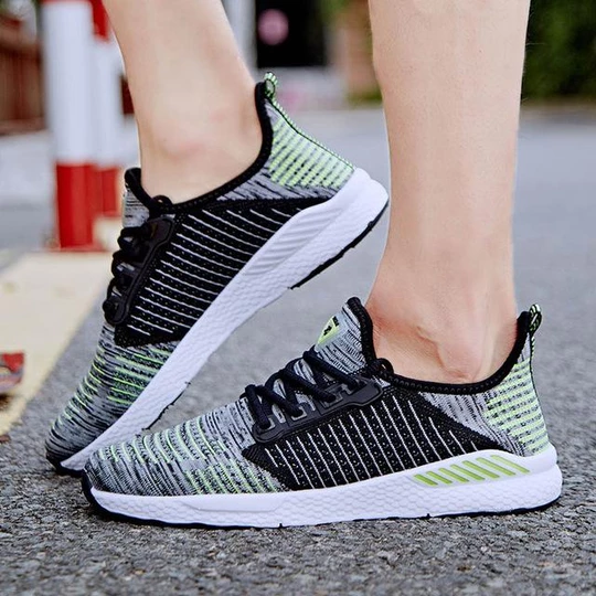 Unisex Men Casual Mesh Running Shoes Lace Up Breathable Trainers Sneakers Sports