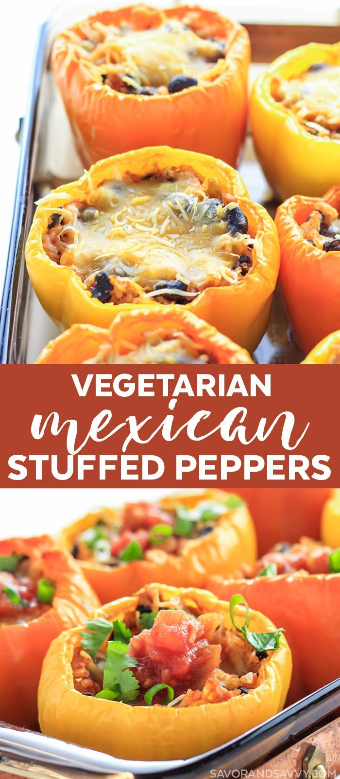 Mexican Stuffed Peppers #mexicanshrimprecipes