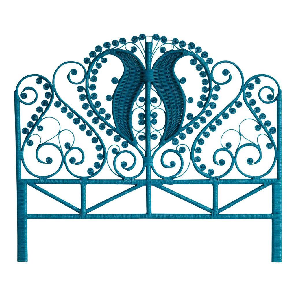 Queen Peacock Bed Head Teal – Jumbled