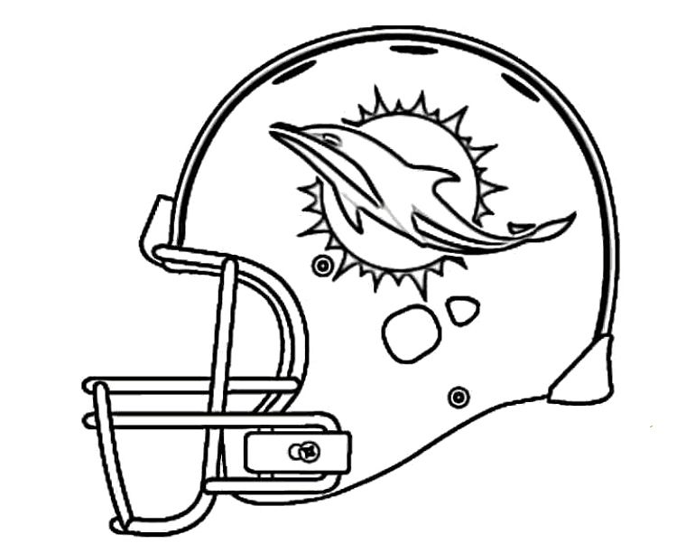 Football Miami Dolphins Coloring Pages   Diy love ;P   Pinterest