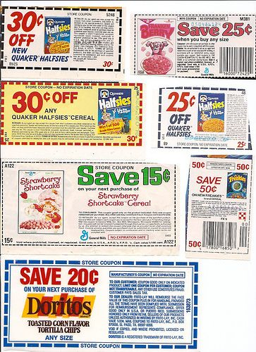 Old 1980's Cereal Box Coupons Doritos | cookbook | Store