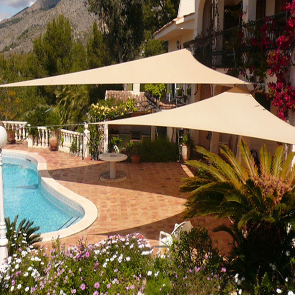 right triangle sun shade sail uv top cover patio pool awning