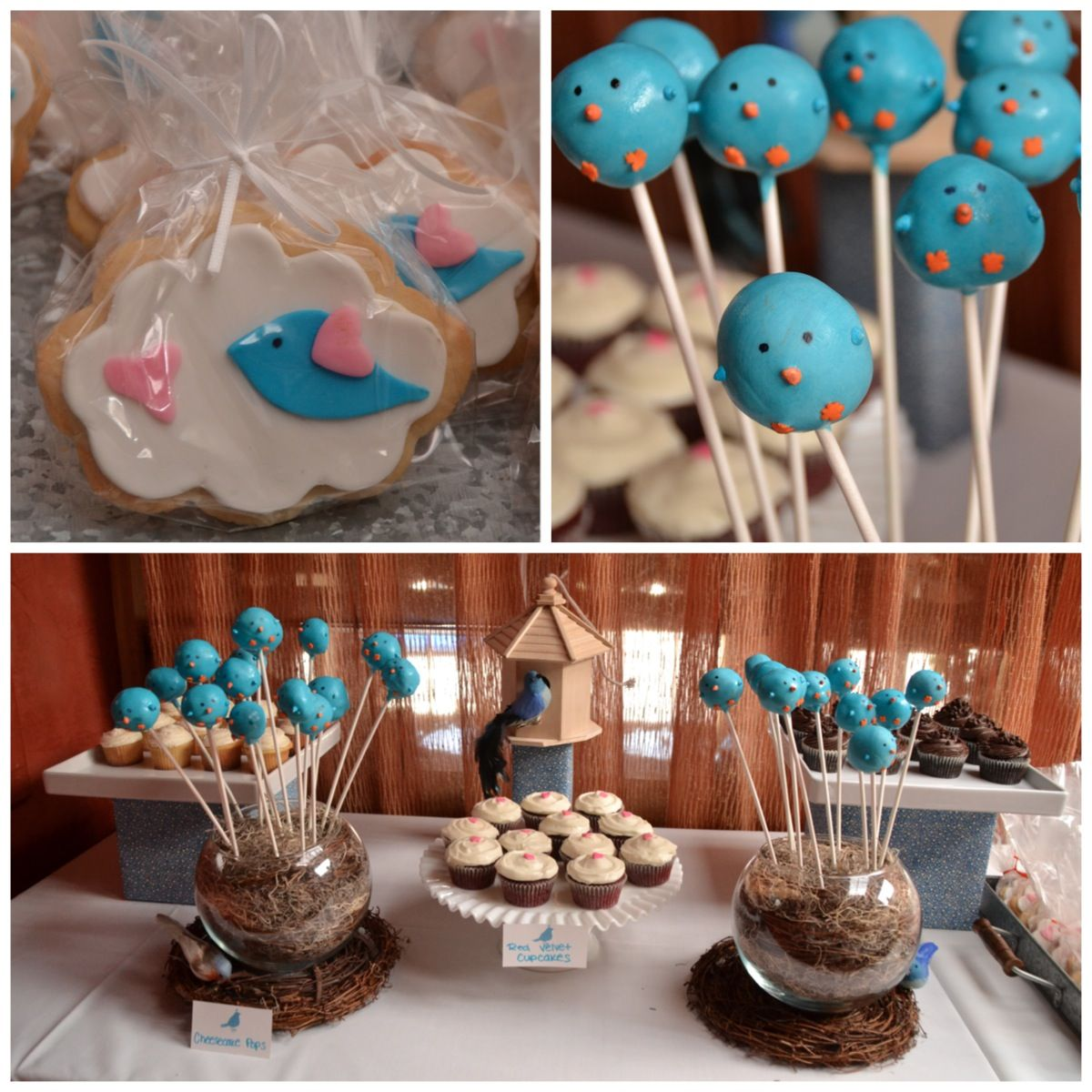 """Nesting"" themed baby shower dessert table- from Emily's Custom Bakeshop www.emilyscustomb..."