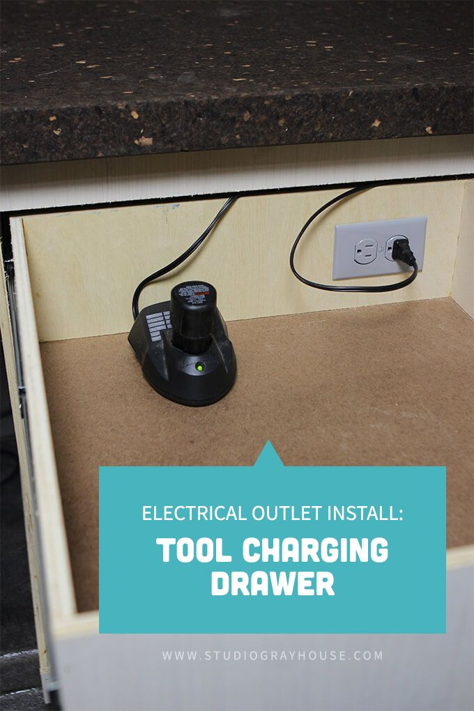 Electrical Outlet Install Tool Charging Drawer Electricity