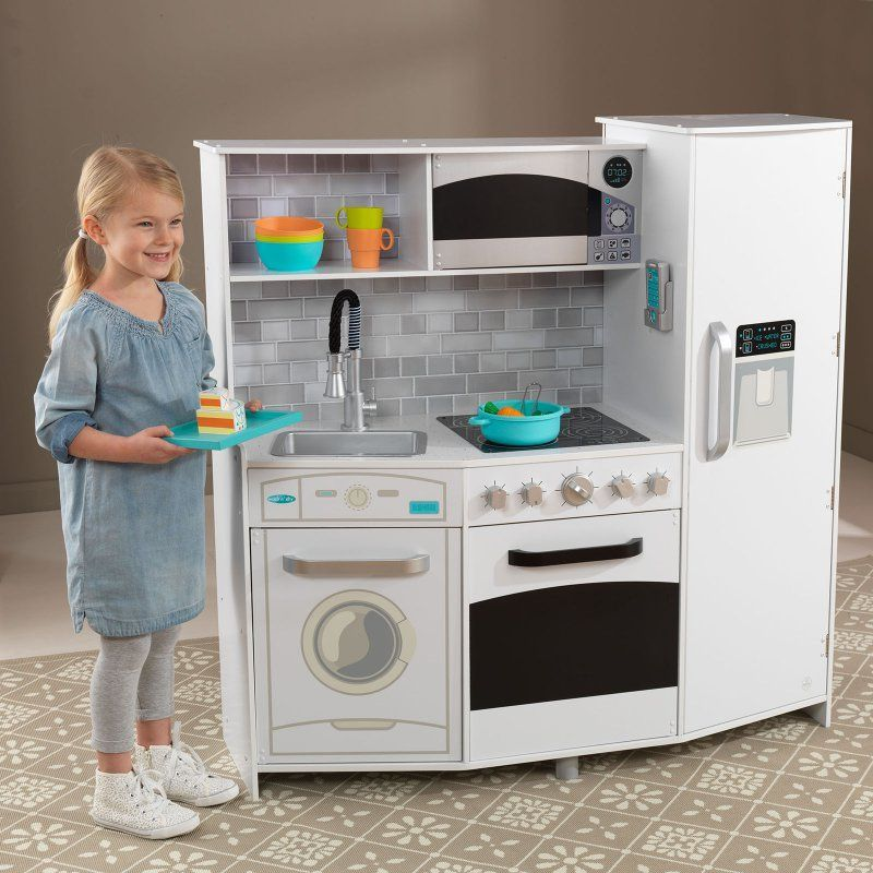 Kidkraft Modern Play Kitchen White 53375 White Kitchen Play Kitchen Kidkraft