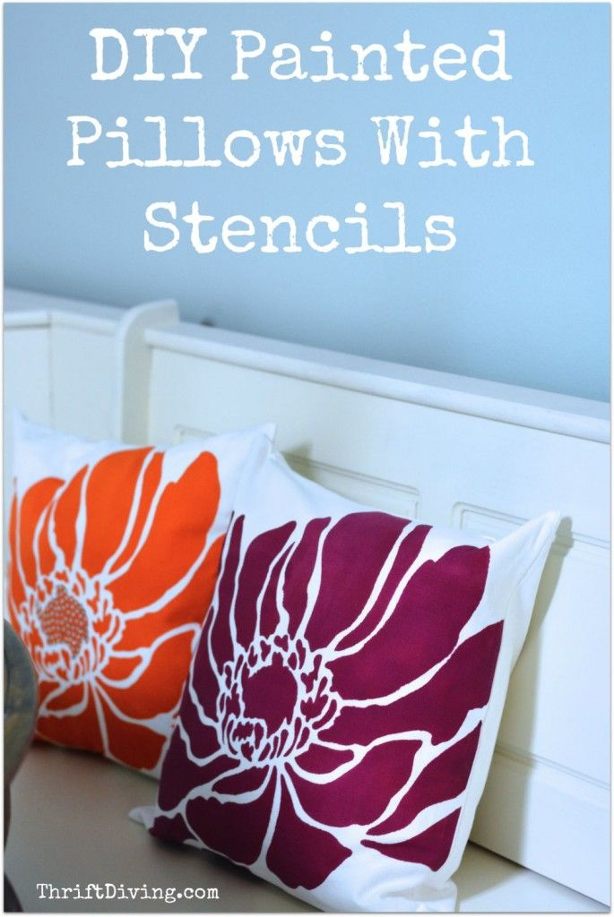 Diy Painted Stencil Bathroom Floor: DIY Pillow Covers With Paint And Stencils