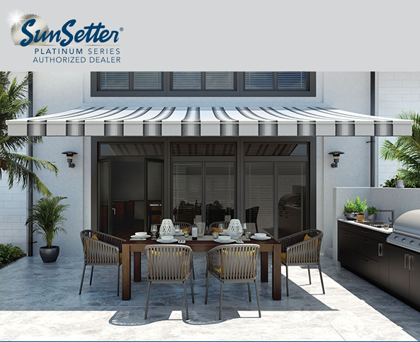 Sunsetter Platinum Series Awnings Featuring Sunbrella Fabric Engineering Excellence In A Premium Awning Line World Ren Fabric Awning Canopy Outdoor Awning