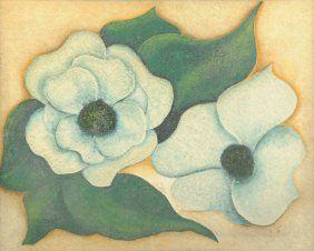 "MONTEATH (20th Century) A PAINTING, ""Magnolias,"
