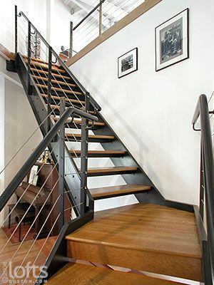 Industrial Loft Staircases | Open Riser Industrial Stairs Metal Stairs,  Modern Stairs, Modern Loft