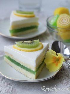 Пирожные с желе из киви » Кулинарные рецепты