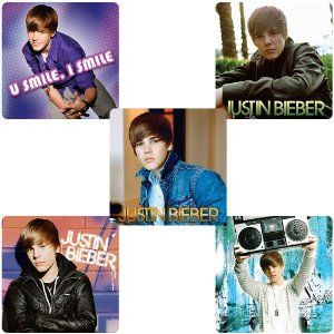 Justin Bieber Stickers 75-pak by SmileMakers Inc. $6.29. 5 Designs. 75 stickers. 2.5 inches. You better Belive these are the best Justin Bieber Stickers. 75 per box