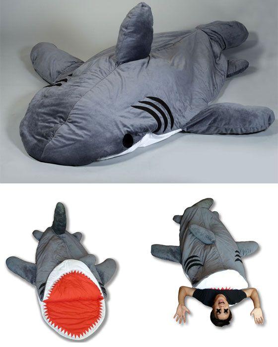chumbuddy u2013 shark sleeping bag