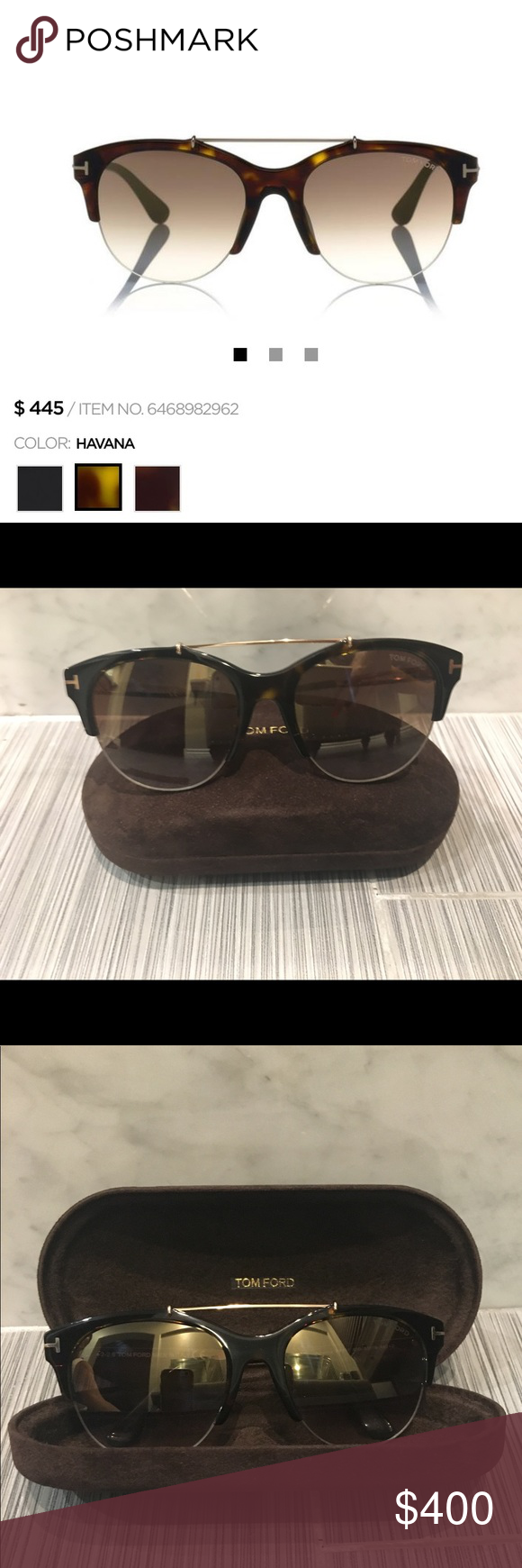 8f12211452c0 Tom Ford Sunglasses WORN ONLY ONCE! PRICE IS NON-NEGOTIABLE. I have the