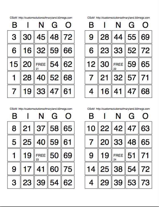 Free Printable Bingo Card Sheets Free Bingo Cards Bingo Card Template Bingo Printable
