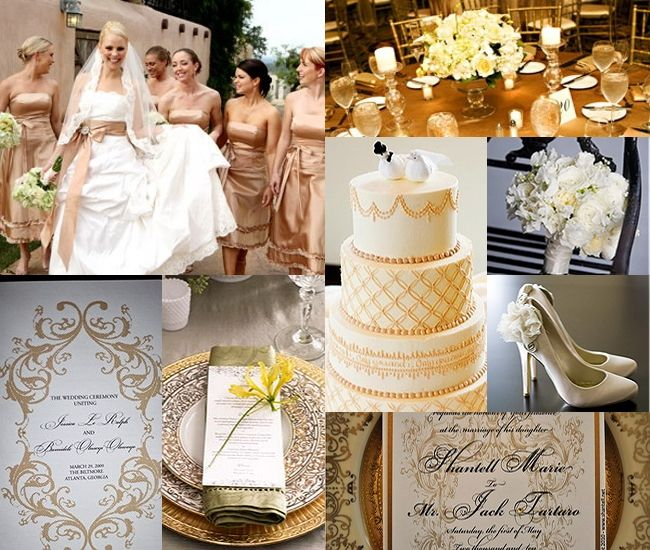 Gold And White Wedding Ideas: Gold Wedding Yessss! The Dress For Sure