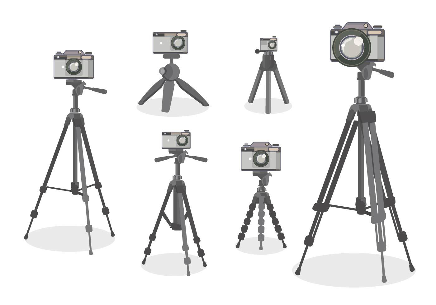 Camera Tripod Vector Flat Design style | Flat design