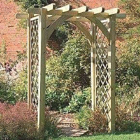Ultima Pergola Arch With Trellis