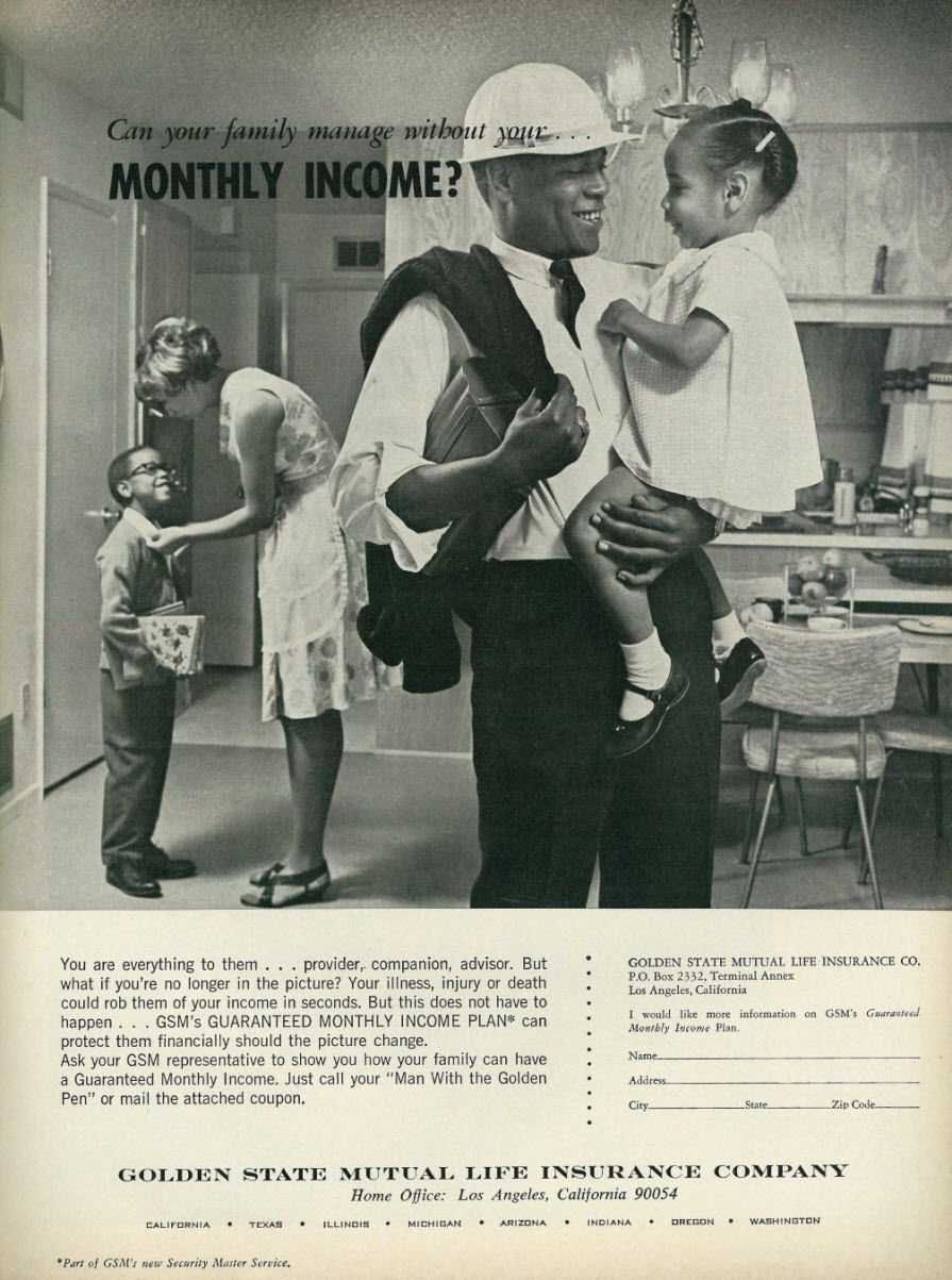 Life Insurance Quotes California All Sizes  1966 Ad Golden State Mutual Life Insurance Company