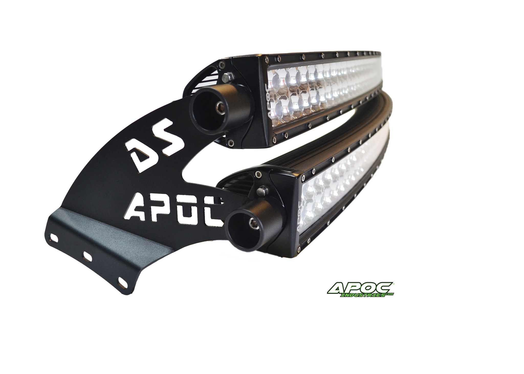 99 15 ford super duty apoc double stack roof mount and light bar kit for