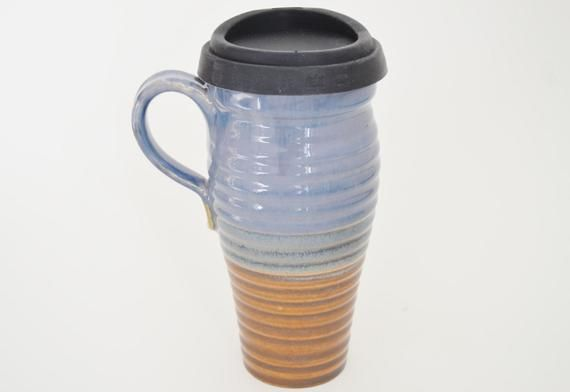 Ceramic Travel Coffee Mug With Lid