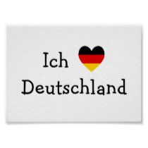 Ich Liebe Deutschland Poster Zazzle Com In 2020 Germany Quote German Flag Germany Flag