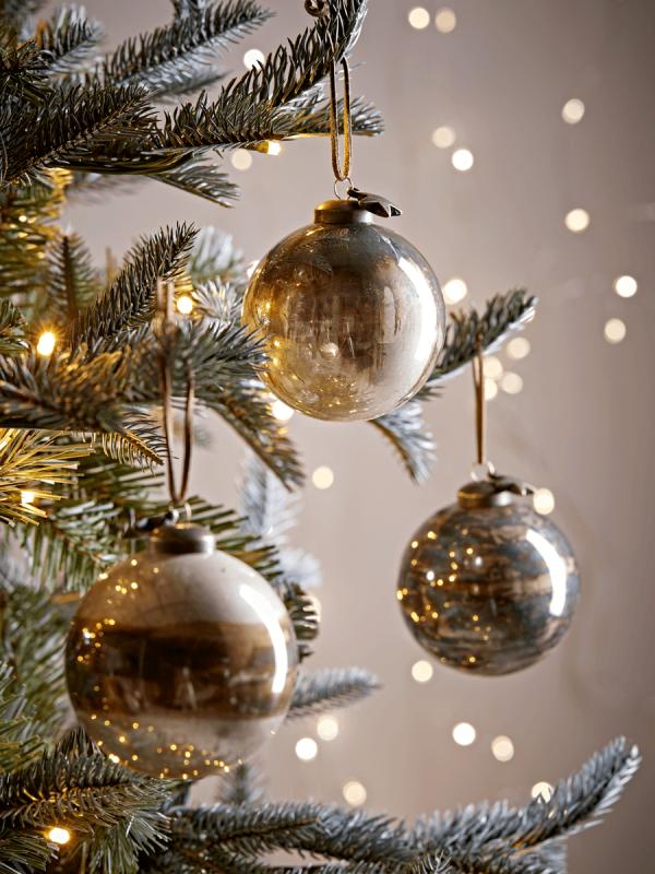 Six Bronze Lustre Baubles Christmas Pinterest