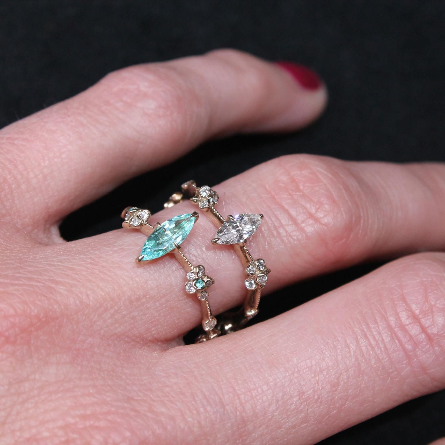 Kataoka marquise cut diamond solitaire engagement ring | Solitaires ...