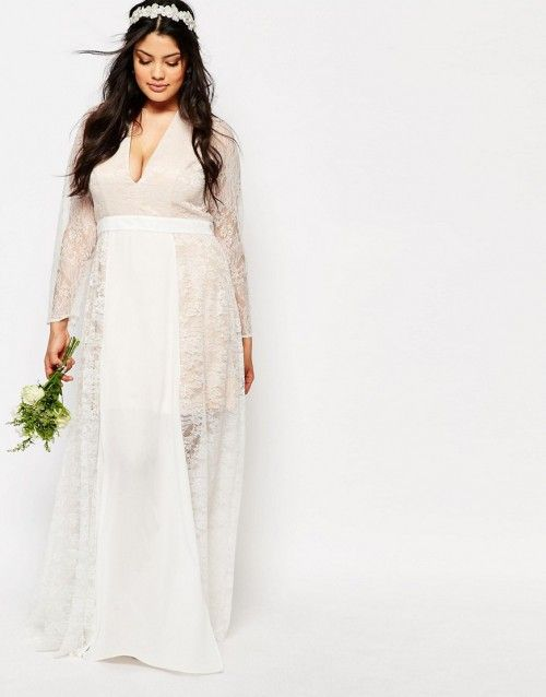 Non-traditional plus size wedding dresses. | PLVSH Blog | Pinterest ...