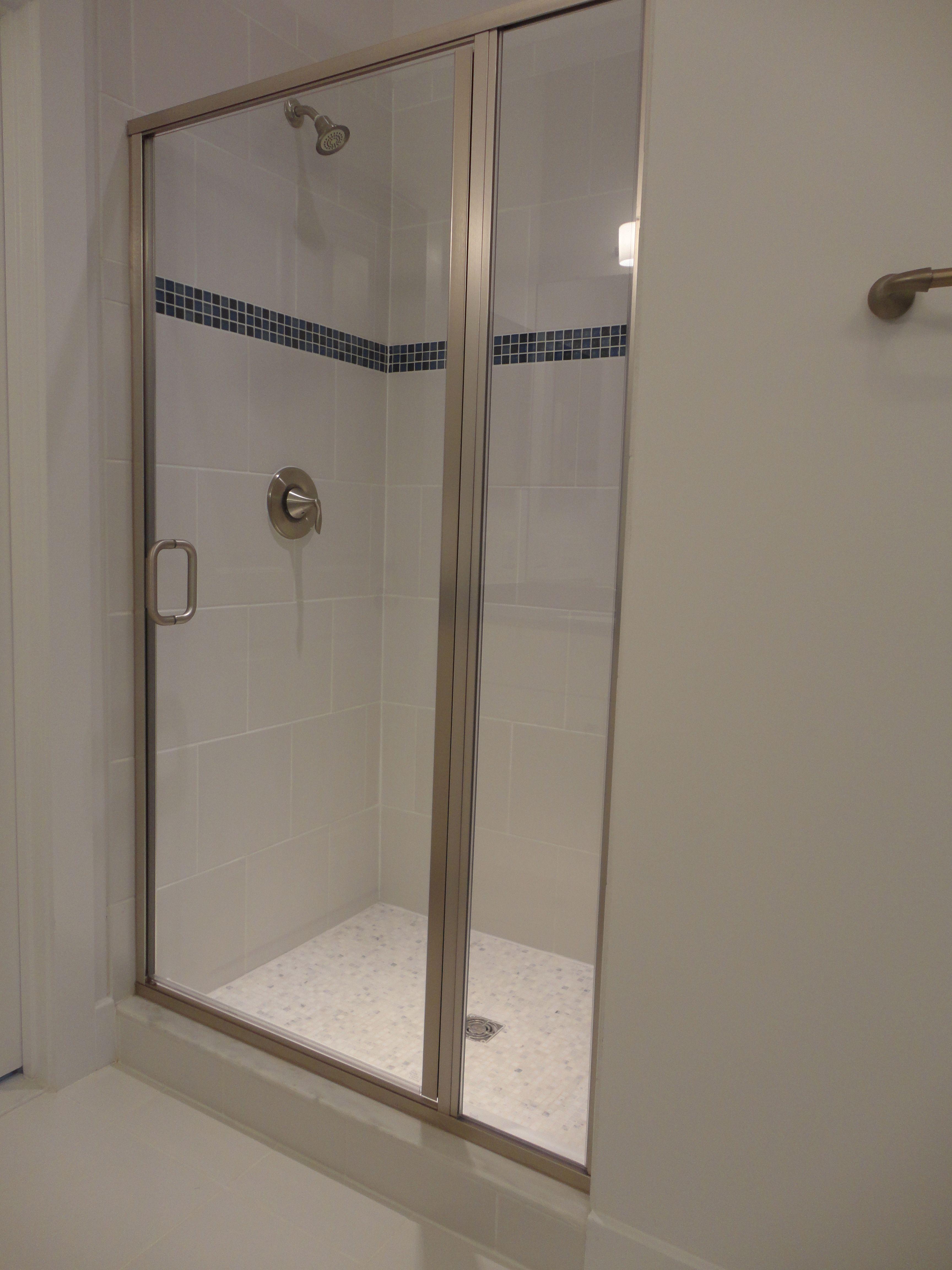 Semi frameless shower door- opening edges of glass on the door has ...