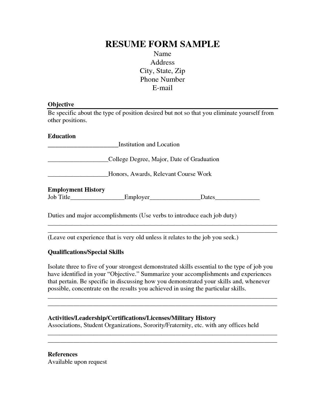 Career Resume Format - http://www.jobresume.website/career-resume ...
