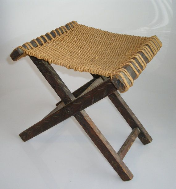 Antique folding MEXICAN STOOL woven rope seat by TheGardenBench $50.00 & Antique folding MEXICAN STOOL woven rope seat by TheGardenBench ... islam-shia.org