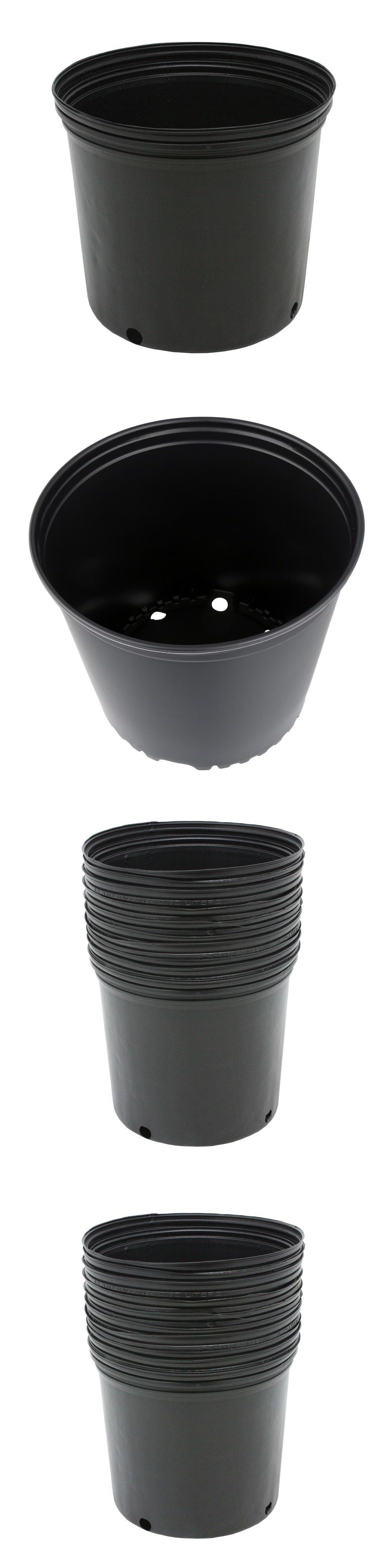 Baskets Pots And Window Boxes 20518 10 Pack 3 Gallon Plastic Nursery Pots Garden Flower Plant Outdoor Plastic Nursery Pots Baskets Pots Flower Garden Plants