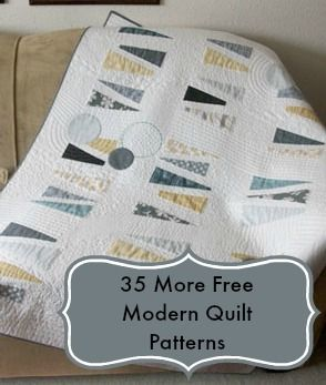 35 more free modern quilt patterns @ wowilikethat com | Quilty ideas