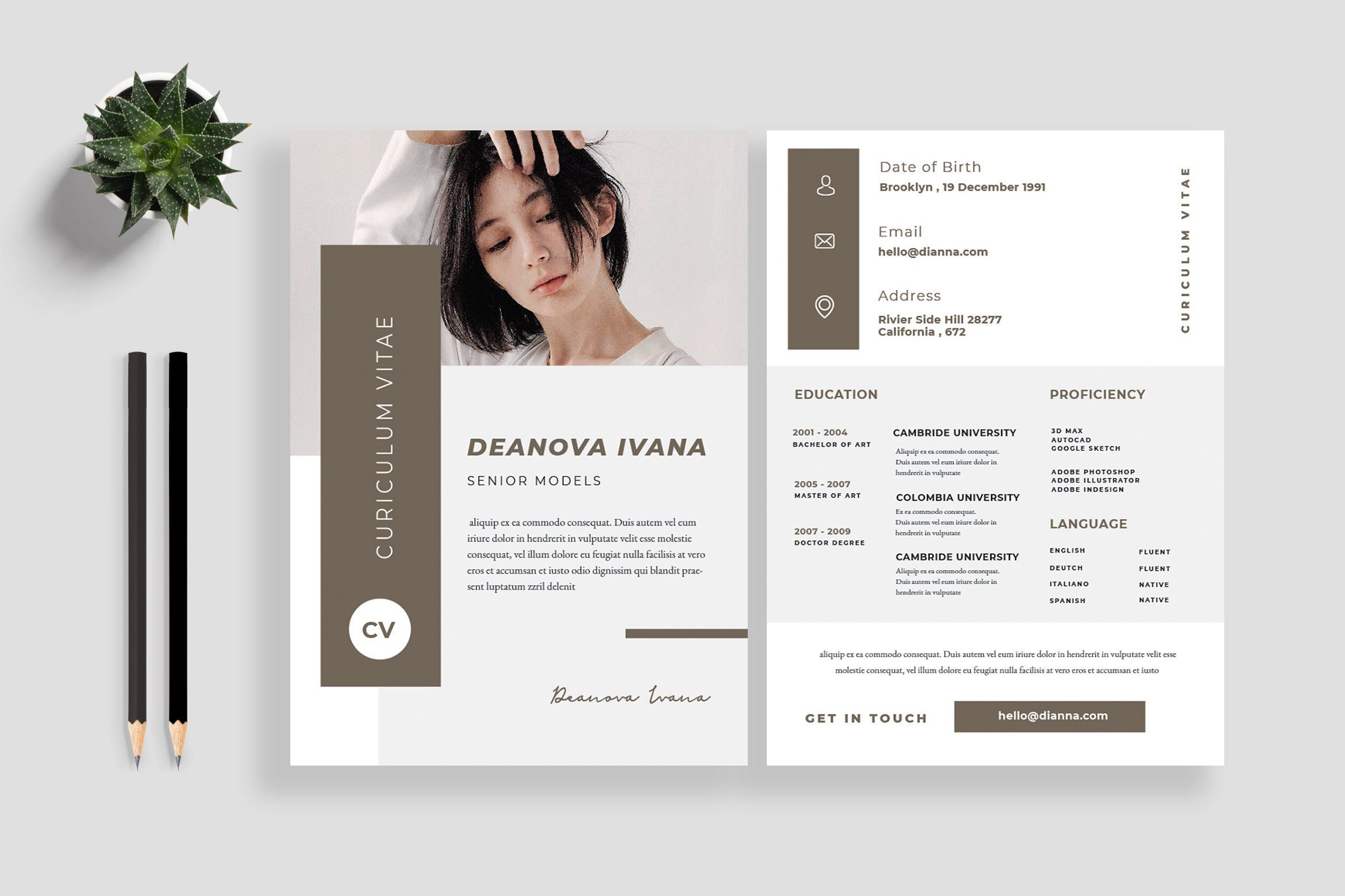 Resume Cv Template By Tmint Play On Creativemarket Resume Design Creative Resume Design Resume Design Template