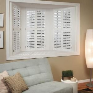 HOMEbasics Plantation Faux Wood White Interior Shutter (Price Varies By  Size) QSPA3560 At