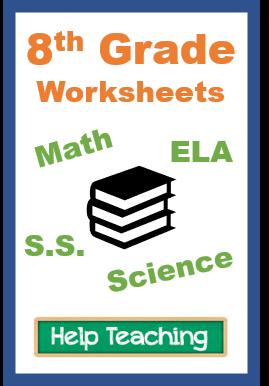 Eighth Grade Worksheets in 2020 | Elementary worksheets ...