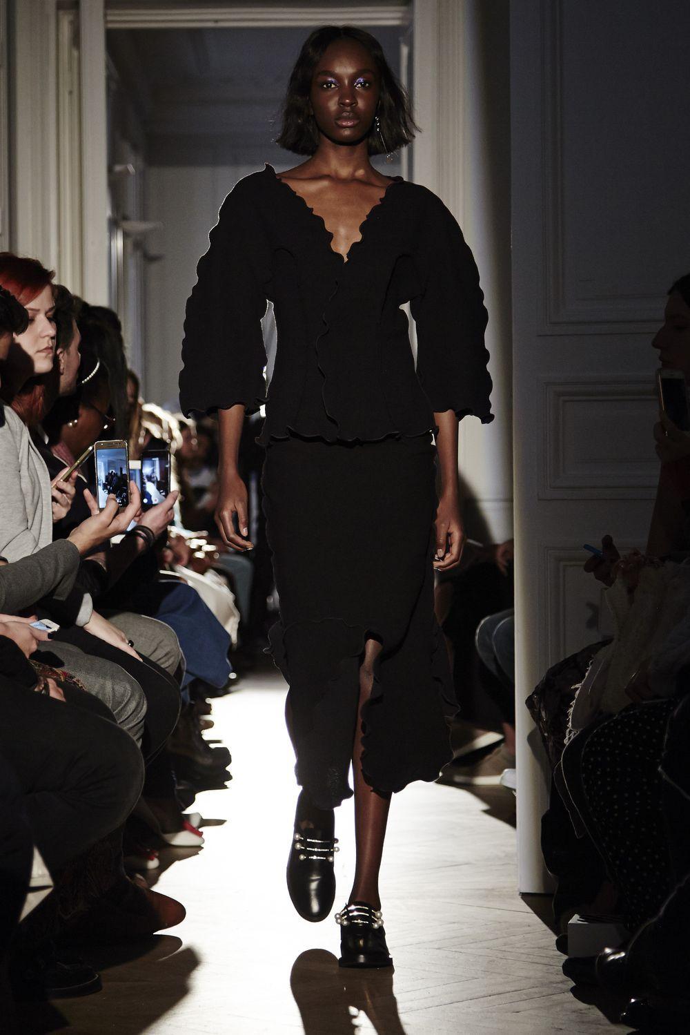 PEET DULLAERT | Shop Online - SS17 - Sculptured Patchwork Wave Skirt - Black